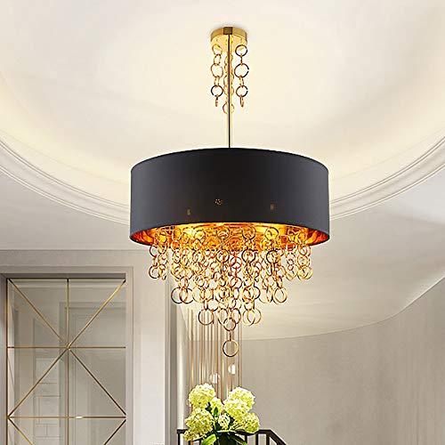 CHENJUNAMZ Lámpara cálida para sala de estar, de lujo, sala de exposiciones, sala de arte, dormitorio, ambiente, hogar, restaurante, lámpara de araña (tamaño: 60 x 98 cm)