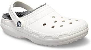 fleece lined crocs white