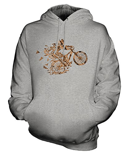 Candymix – Mountain Biker Triangular Splatter – Sudadera unisex con capucha para hombre y mujer Gris gris XS