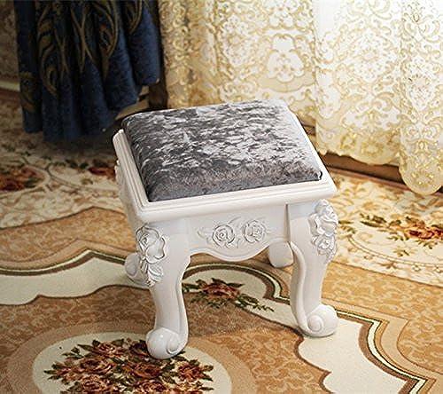 SX-ZZJ Kommode aus Holz gepolsterten Sitz Make-up Klavier Stuhl Schminktisch mit Rose Pad (Farbe   E)
