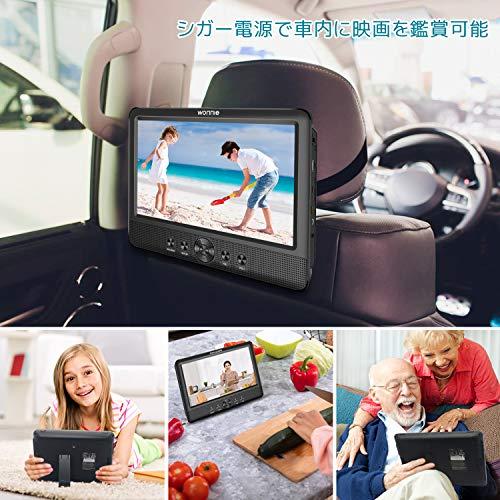 WONNIEヘッドレストモニターポータブルdvdプレーヤー後部座席車載DVDモニター10.5インチリージョンフリーCPRM対応電源不要USB/AV出力/AV入力搭載3年保証付き