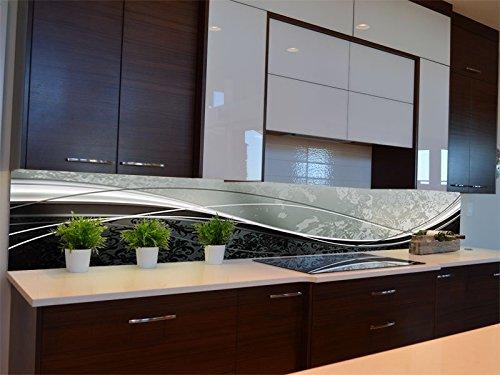 Dalinda® Küchenrückwand Küchenboard Küchenrückseite mit Design eleganter Schwung KR111