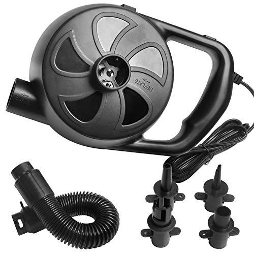 Flashbee - Pompa ad aria elettrica, gonfiabile, a mano, per materasso ad aria, gonfiaggio 2 in 1, con 4 ugelli, pompa ad aria per piscine gonfiabili, anello galleggiante, barche, letto
