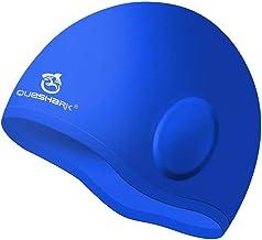Queshark Badmuts, Duurzame Siliconen Badmuts Cover Oren, 3D Ergonomisch Ontwerp Badmutsen Voor Mannen Vrouwen Kinderen Vol...
