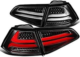 Fit Volkswagen Golf MK7 Black Full LED Tail Reverse Lights Rear Brake Parking Lamps Pair
