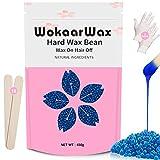 Hard Wax Beans 450 Gram Suitable for Sensitive Skin, Body, Face, Eyebrow, Underarm, Brazilian, with...