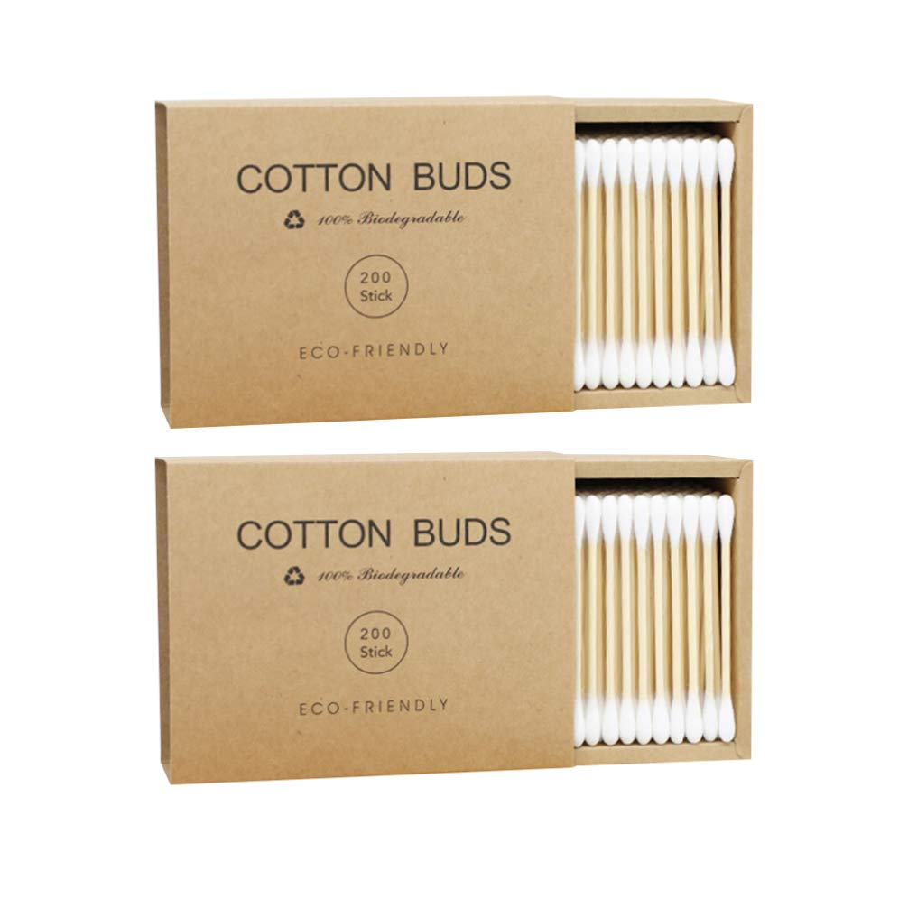 Milisten 2 All items free SEAL limited product shipping Boxes Bamboo Cotton Dual Swabs Tipped Applicat