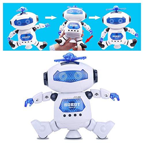 RC Robot Toy, robot programable inteligente de control remoto, robot humanoide que baila con iluminación giratoria de 360 °, robótica de entretenimiento inteligente, regalo lúdico de cumpleaños para