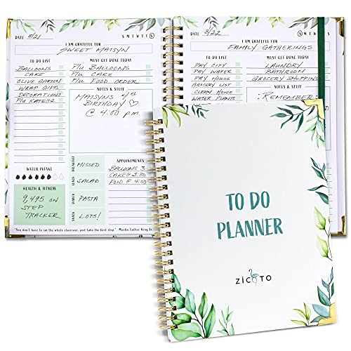 Simplified Greenery To Do List Notebook - Beautiful Daily Planner Easily Organizes Your Daily Tasks And Boosts Productivity - The Perfect Journal And...