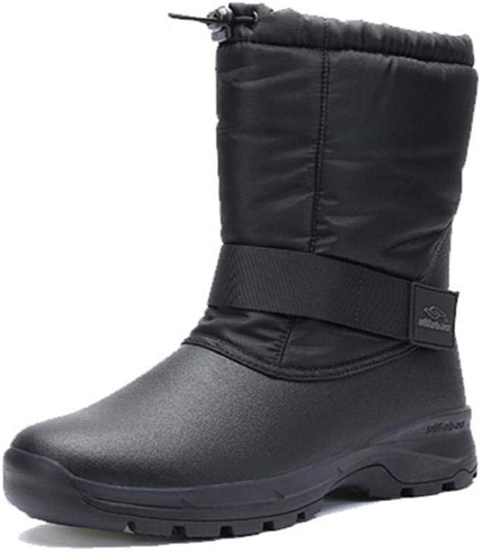 Hhguld Mans stövlar Winter Plush Snow stövlar Non Slip utomhus utomhus utomhus skor (färg  svart, Storlek  UK 6.5)  trendig