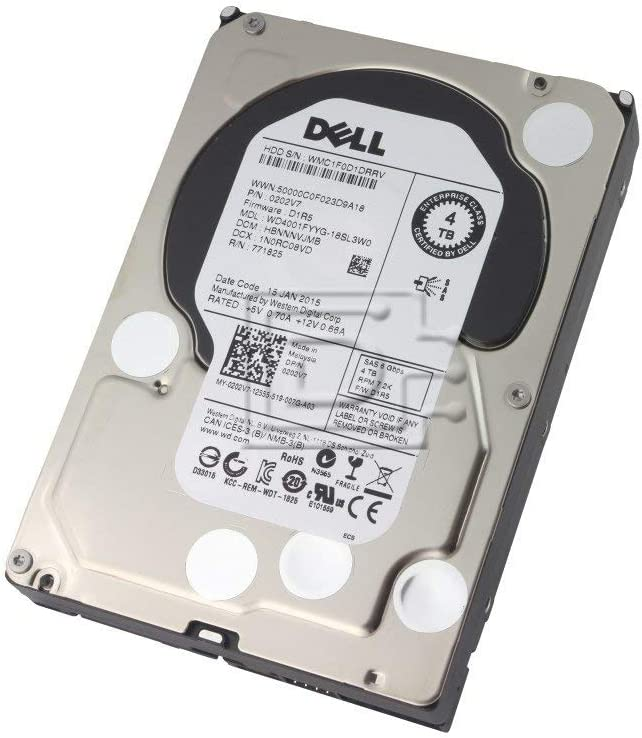 Dell 202V7 4tb 3.5in 7.2k NL SAS 6gbs Hard Drive