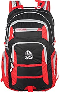 GraniteGear Hiking Backpack Swiss Backpack Travel Backpack School Backpack Daily Bag Backpack 1000015-0003 (Black/red)