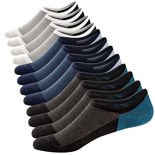 Calcetines cortos para hombre Ueither – invisibles – transpirables y antideslizantes - 6 pares