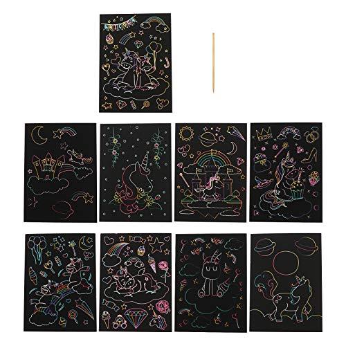 Cabilock 1 Set van Kids Scratch Schilderen Kaarten Krabben Schilderen Papier DIY Graffiti Tool