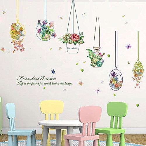 Takarafuneウォールステッカー花壁紙シールサボテン多肉植物ガーデン剥がせる壁紙部屋飾りウォールステッカー防水おしゃれ