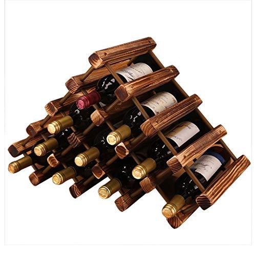 NBVCX Élément de Meuble Bois casier à vin Support de Stockage de vin empilable Meuble de Table Debout Libre ou étagère à vin de comptoir pin Naturel en Bois