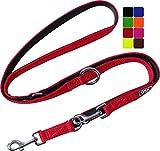 DDOXX Correa Perro Multiposición Air Mesh, Ajustable en 3 tamaños, 2m   Muchos Colores & Tamaños   para Perros Pequeño, Mediano y Grande   Correa Accesorios Doble 2 Gato Cachorro   Rojo, S