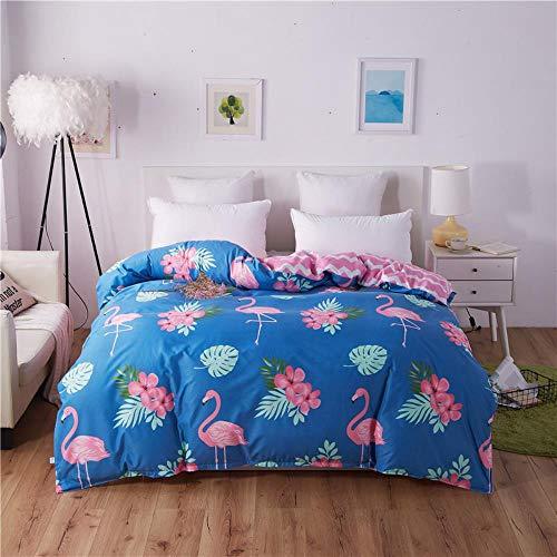 Miwaimao Single-Piece Quilt Quilt University Student Dormitory With Single Double,Intense Blue Flame Bird,230cmx230cm