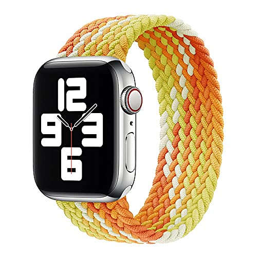 Correa Compatible para Apple Watch Band 44mm 42mm 38mm 40mm Correa de Repuesto Solo Loop Trenzada de Nailon Elástico de Eela de Silicona con para iWatch Series 6/SE/5/4/3/2/1 para hombres y mujeres
