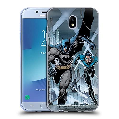 Head Case Designs Licenza Ufficiale Batman DC Comics #615 Copertina Notte Ala Hush Cover in Morbido Gel Compatibile con Samsung Galaxy J7 2017 / PRO