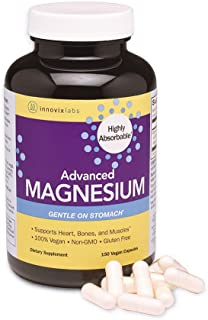 InnovixLabs Advanced Magnesium with High Absorption Malate and Glycinate. Highly Bioavailable Chelated Magnesium – 200 mg per Serving. Soy and Gluten-Free, Non-GMO and Vegan. 150 Capsules.