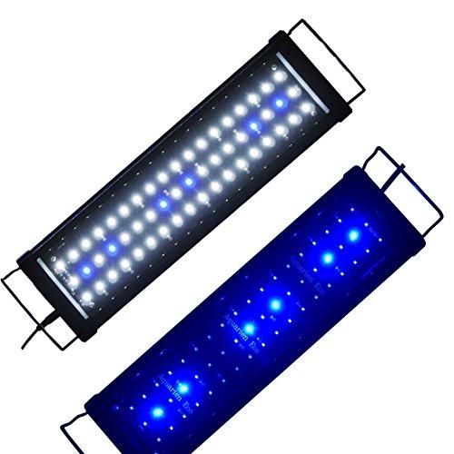 Lumiereholic Aquarium Beleuchtung LED Fische Tank Beleuchtung Aufsetzleuchte Lampe 30-200cm (45CM)