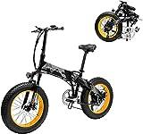 Bici electrica, Actualizar 1000w 48V eléctrico con el ciclismo de montaña 20inch Suspensión Fat Tire E-Bici crucero de la playa for hombre deportivo eléctrico de...