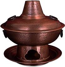Pot Chaud 32/34/36 CM Plus Épais pour Chauffer Pot Chaud Deux Saveurs Pot À Soupe Multifonctionnel Pot Chaud en Cuivre Ant...