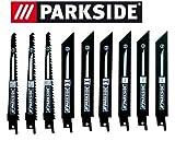 Parkside Lot de 9 lames de scie sauteuse PSSA 18 A1 - LIDL IAN 104447 - 3 x bois, 3 x métal, 3 x bimétal