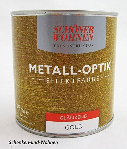 Metall-Effekt- Effektfarbe Gold 375 ml