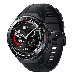scheda honor watch gs pro - smartwatch multisport con 25-giorni batteria durata, certificato standard militare, gps, 1,39 pollici amoled, ip68, monitoraggio della frequenza cardiaca, nero