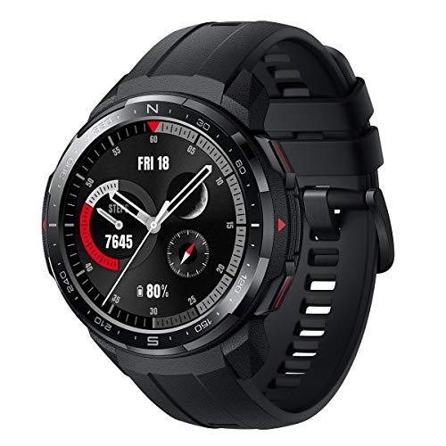 HONOR Watch GS PRO - Smartwatch Multisport con 25-Giorni Batteria Durata, Certificato Standard Militare, GPS, 1,39 Pollici AMOLED, IP68, Monitoraggio della frequenza cardiaca, Nero