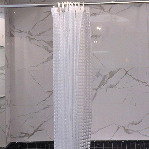 3D Dreidimensionale PEVA Wirkung des Hotelbadezimmer Duschvorhang Dick Durchscheinend Badezimmerzubehör (Farbe : Klar, Größe : 180*200cm)