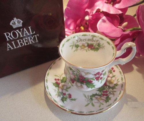 Tazas de café Royal Abert, meses de diciembre.