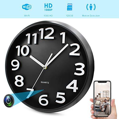 YMS HD 1080p WiFi Spy Camera (batteria 5000 mAh), orologio da parete con telecamera nascosta per la sicurezza domestica, supporto iOS/Android/PC remoto in tempo reale video e rilevatore di movimento