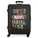 Marvel Los Vengadores Comic Maleta Mediana Negro 48x68x26 cms Rígida ABS Cierre combinación 70L 3,7Kgs 4 Ruedas Dobles