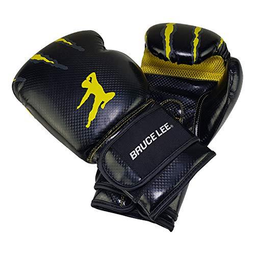 Bruce Lee Boxhandschuhe Signature Boxhandschuch, gelb schwarz, 12 oz