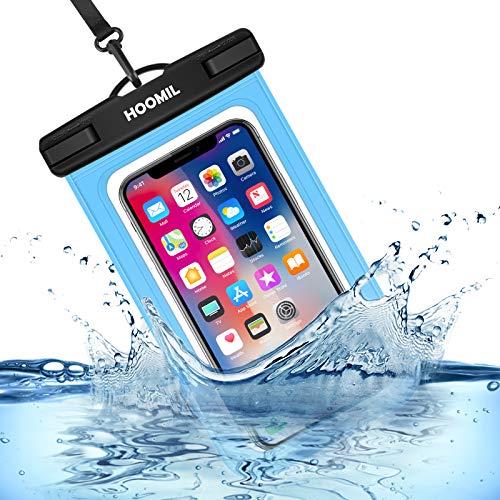 HOOMIL wasserdichte Handyhülle, Universal Wasserfeste Handytasche IPX8 Unterwasser Handy Hülle für Samsung Galaxy S20 Plus/S10/S9/S8/S7 Edge, Blau