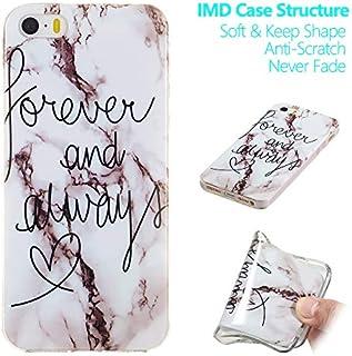 MeetJP iPhone SE 5SE 5 5S シェル 落ちる 携帯電話ケース 置換 携帯 シェル ?と ネイティブタッチフィーリング の iPhone SE 5SE 5 5S (White Marble)