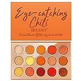 Ganmaov Grün Orange Schimmer Matte Lidschatten-Palette Natürlicher Lidschatten Hochpigmentiertes Pulver Schimmer Glitzer Augen Make-up Kosmetik-Set graceful