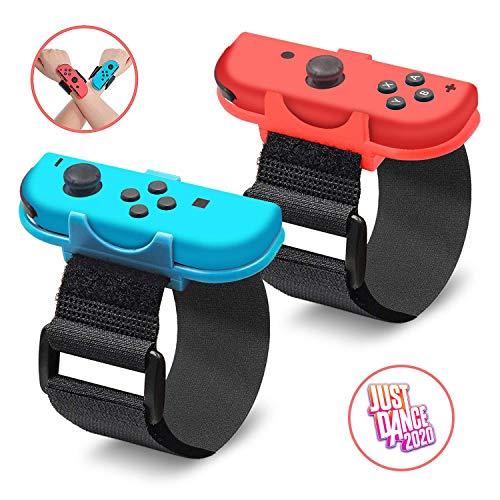 Just Dance 2020, banda de baile para Nintendo Switch, correa elástica ajustable de gancho para Joy Cons Controller, 2 unidades
