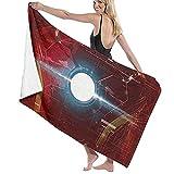 ZDmood Toalla de baño de Microfibra Cool Iron Man Movie Personality Yoga portátil de la natación de la Aptitud de la Toalla de Playa de Secado rápido 80X130CM