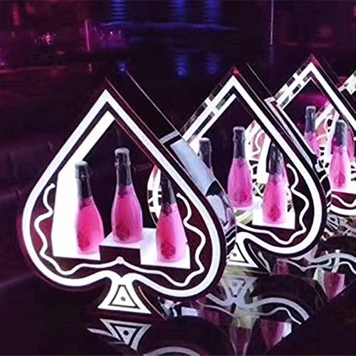 Estante de vino Persalte Luminoso Luminoso LED Tenedor de vino LED Carga de vino Base Champagne Base KTV Luminoso Vino Estante de vino Pantalla Barra de almacenamiento Classic Almacenamiento Iluminaci