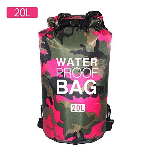 ChicSoleil Dry Bag 2L,5L,10L,15L,20L,30L Wasserdicht Packsack Aufbewahrungstasche Ocean Pack Trockensack Rucksack für Camping Wassersport Kajak Rafting Fischerei