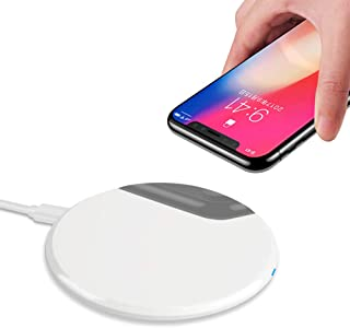 Qi Wireless Charger,IGUGIG 10W Upgraded Wireless Charging Pad for iPhone Xs/Xs Max/XR,iPhone X,iPhone 8 Plus/8,Samsung Gal...