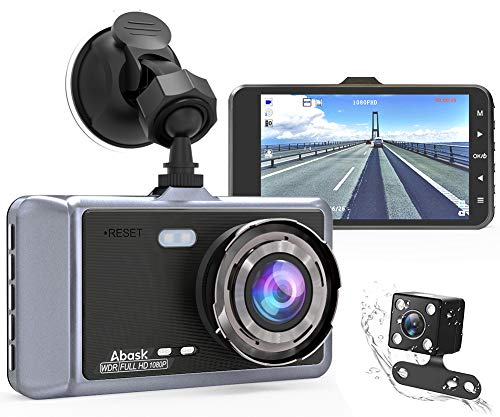 Dash Cam, Abask 4 Inch Car DVR Dashboard Camera 1080P FHD Driving Recorder G-Sensor, WDR, 170°Wide Angle, Loop Recording, Motion Detection and Parking Guard LCD Screen Driving Recorder