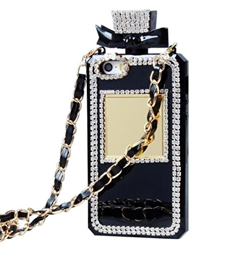 For Galaxy Note8 Case, Omio Charming Princess Perfume Bottle Cover With Necklace Neck & Wrist Chain String Noble Luxury Bling 3D Handmade Shiny Glitter Crystal Diamonds Shell For Samsung Galaxy Note 8