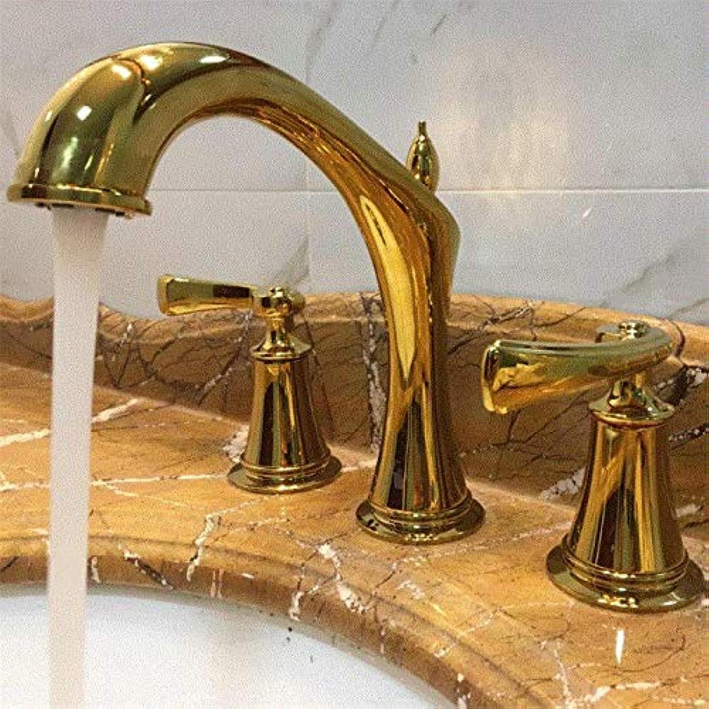 Wasserhahn Einhand Wasserhhne Becken Wasserhahn Doppel-Drei-Loch-Wasserhahn Hei Und Kalt Gehobenen Europischen Antiken Wasserhahn
