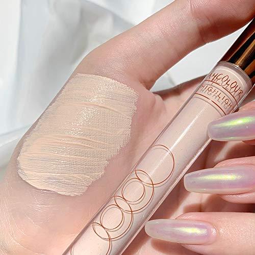Qianren Makeup Liquid Highlighter Stick, Matte Highlighter & Shimmer Highlighter Face Contour Bronzer Stick Long Lasting Magic Body Highlighter Stick