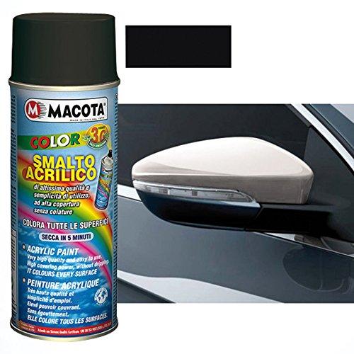 MACOTA 1216312 Smalto Acrilico, 400Ml, Nero Opaco (RAL 9005)